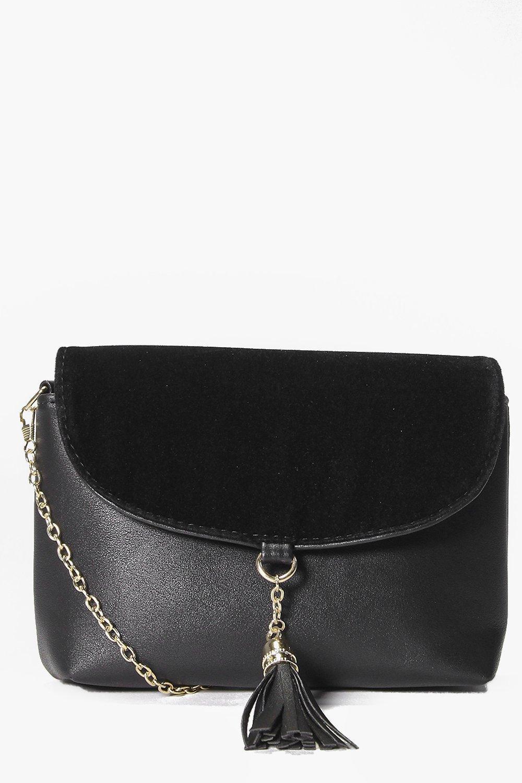 Zoe Suedette Tassel Detail Cross Body Bag