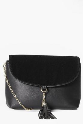Zoe Suedette Tassel Detail Cross Body Bag