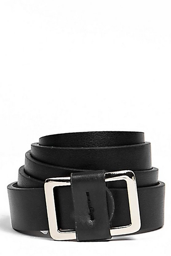 Willow Square Buckle Boyfriend Belt