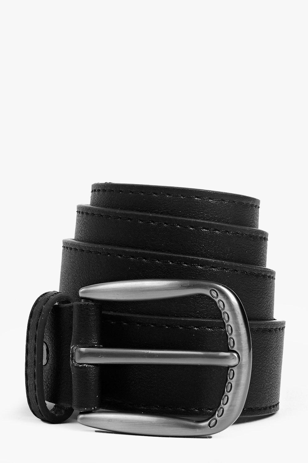 Faye Engraved Buckle Boyfriend Belt
