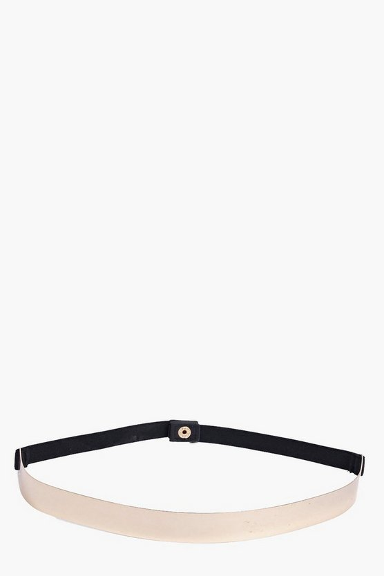 Slim Metal Plate Waist Belt