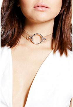 Caroline Clear O Ring Choker
