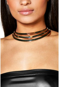 Lydia Gold 3 Band Choker
