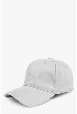 Tilly Faux Suede Baseball Cap