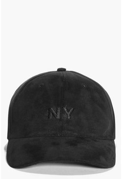 Alice Faux Suede NY Baseball Cap