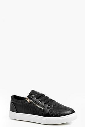 Emma Zip Side Lace Up Trainer
