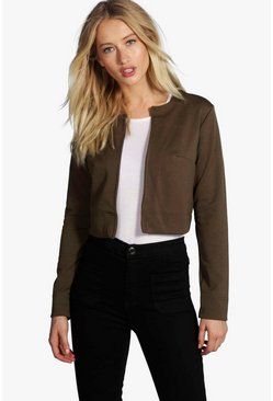 Jackie Crop Edge To Edge Jacket