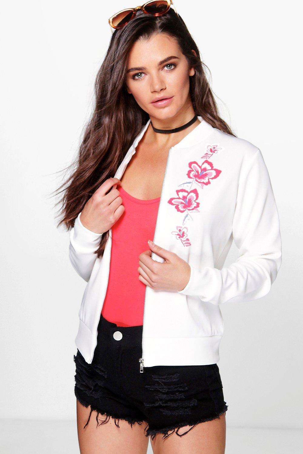 Lola Embroidered Print Bomber