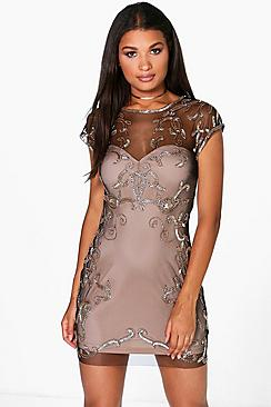 Boutique Sheeva Embellished Bodycon Dress