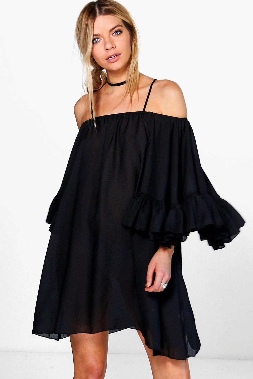 Montana Bell Sleeve Cold Shoulder Dress