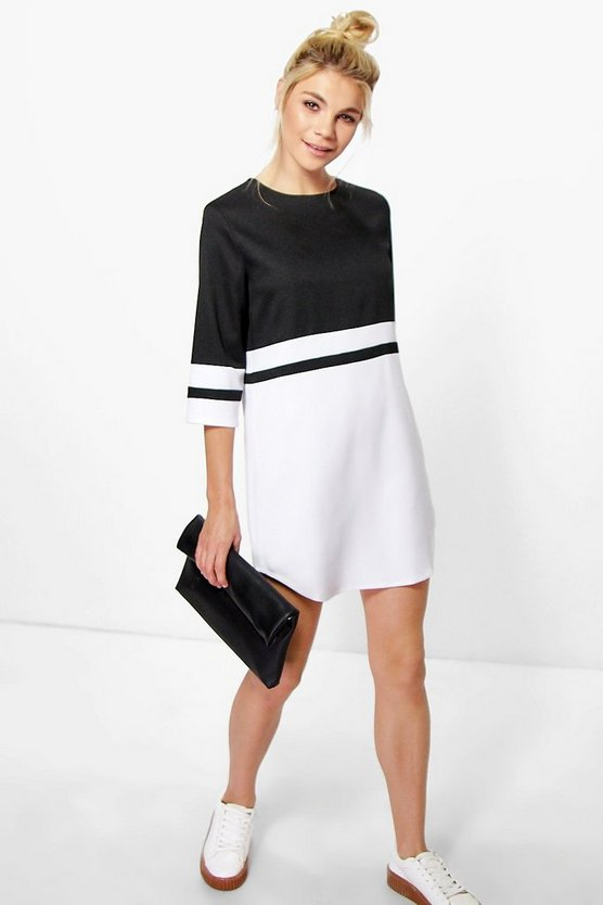 Audrina Colour Block Shift Dress