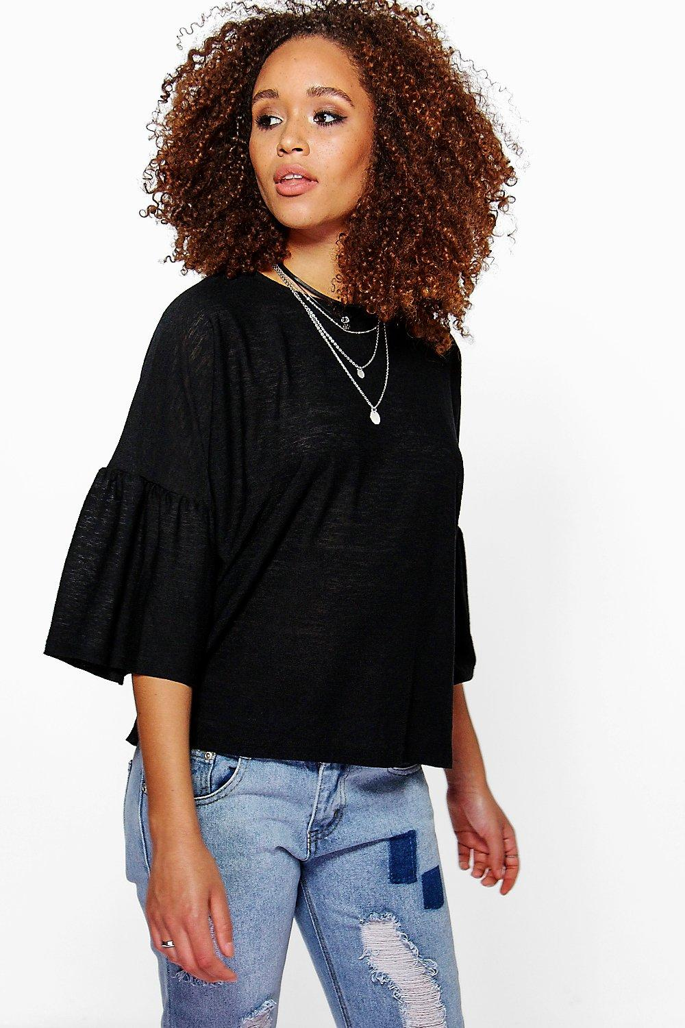 Lily Oversize Frill Sleeve Top