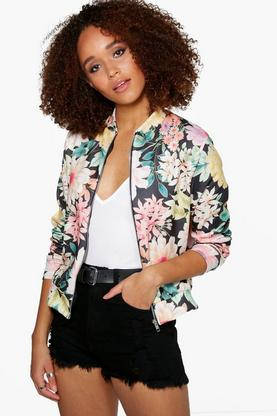 Victoria Oriental Floral Bomber