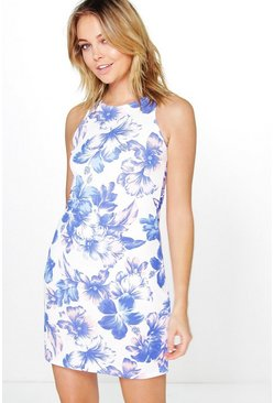 Lola Floral Textured Sleeveless Shift Dress