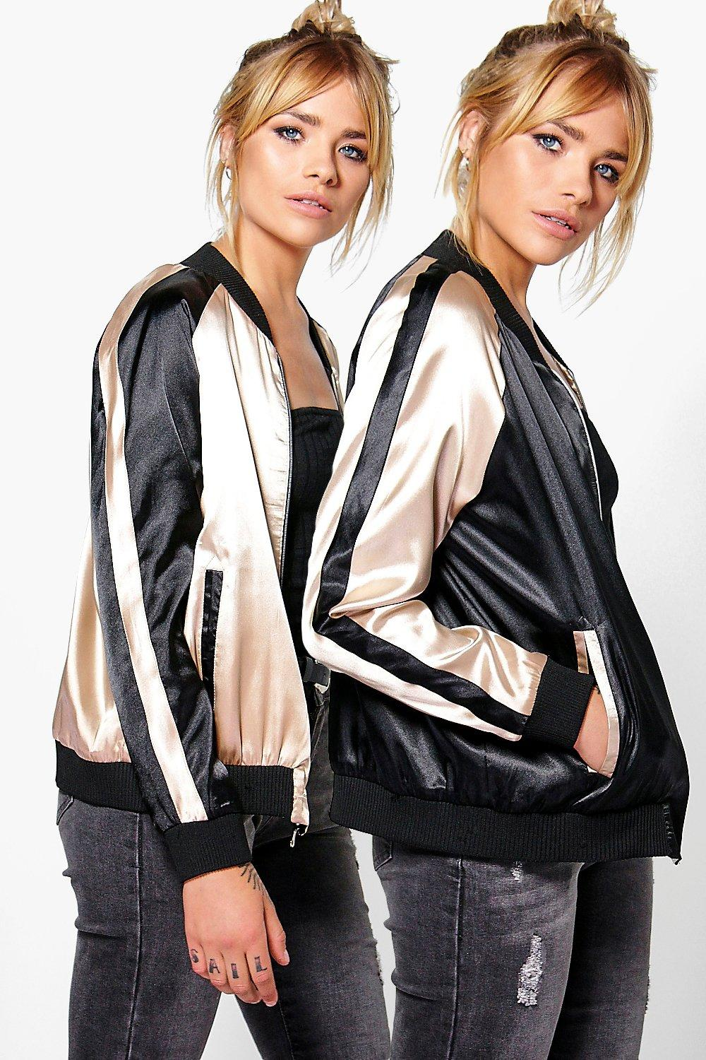 Willow Reversible Satin Bomber