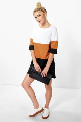 Hana Colour Block Shift Dress