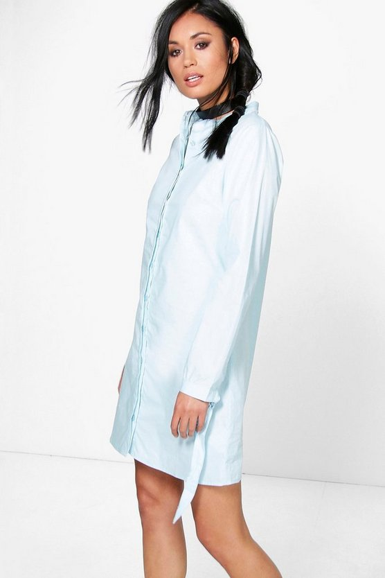 Pandora Tie Sleeve Shirt Dress