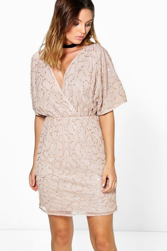 Diana Boutique Sequin Wrap Dress