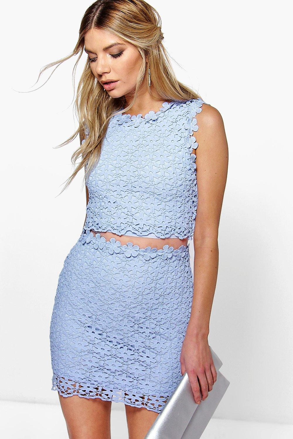 Boutique Lucy Lace Double Layer Bodycon Dress