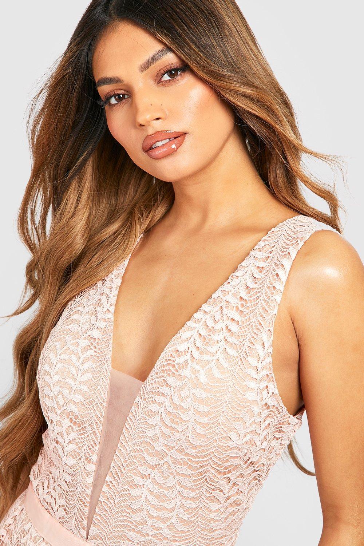Boutique Ali All Lace Plunge Neck Maxi Dress   Boohoo