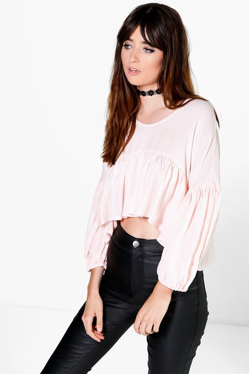 Lily Blouson Sleeve Frill Blouse