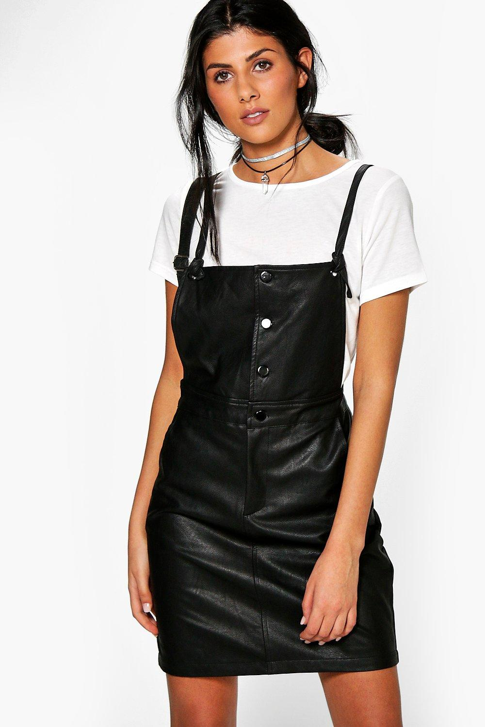Imogen PU Pinafore Dress