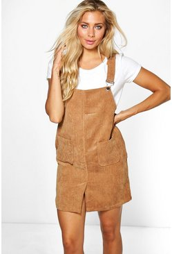 Tina Split Front Pinafore Dress