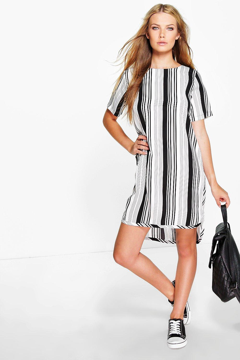 Maurie Stripe Shift Dress