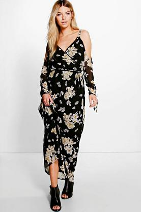 Coralie Cold Shoulder Floral Maxi Dress