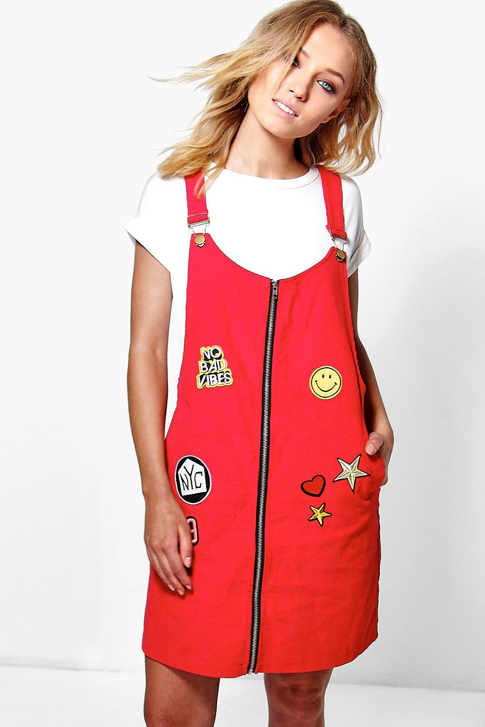 Pandi Badge Pinafore Dress