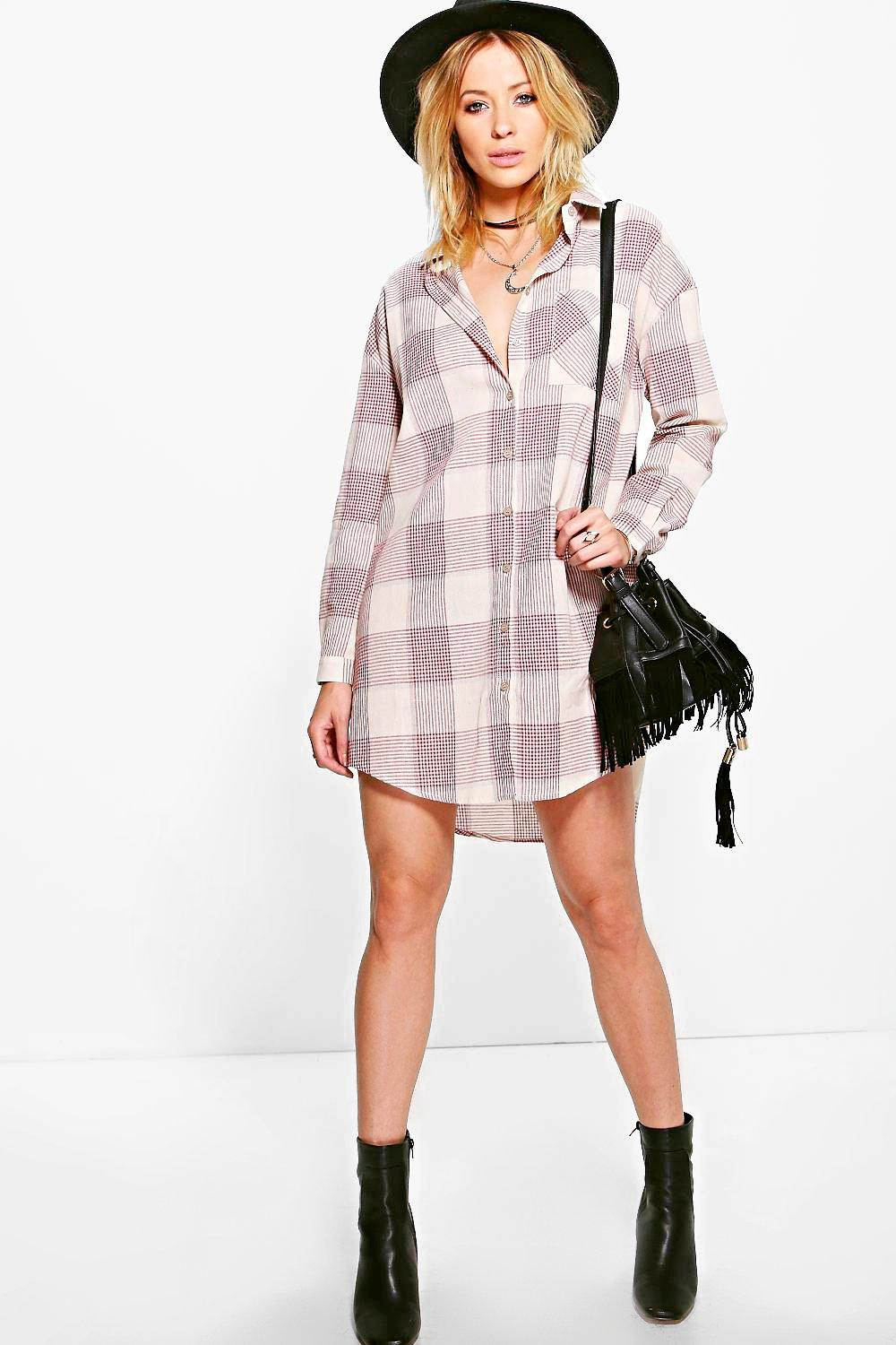 Emillie Check Shirt Dress