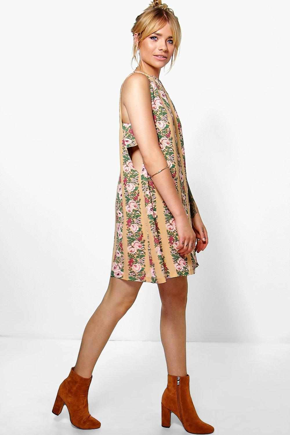 Kaella Floral Tabard Shift Dress