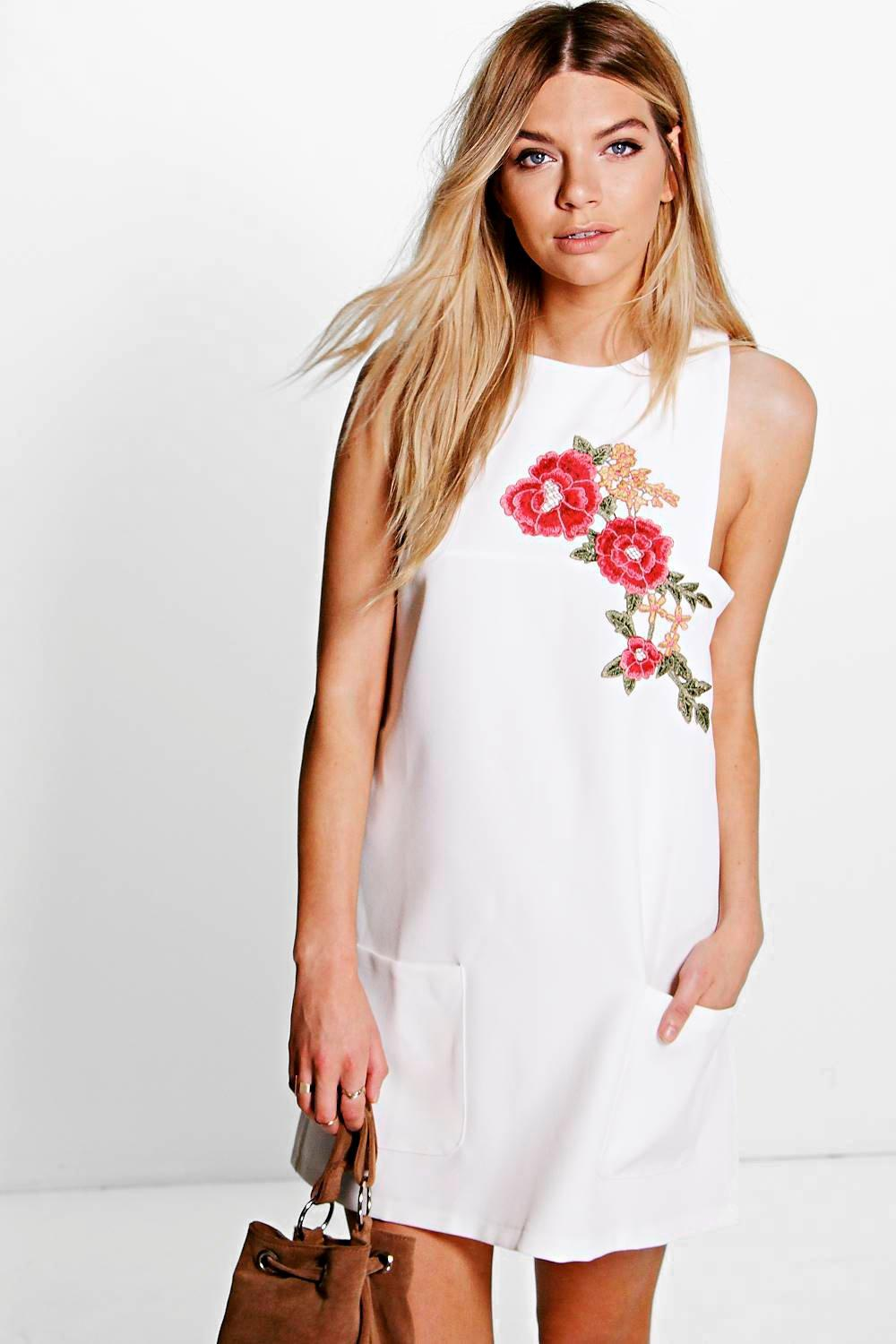 Katerina Embroidered Shift Dress
