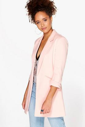 Faith Fully Lined Ponte Longline Blazer