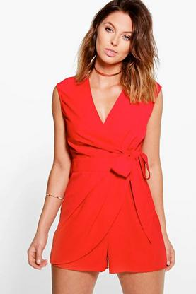 Ria Wrap Front Side Playsuit