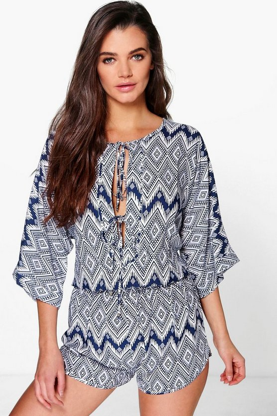 Helena Oversized Geometric Playsuit