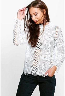 Emma Lace Victorian Top