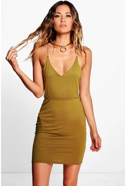 Cora Strappy Cross Back Bodycon Dress