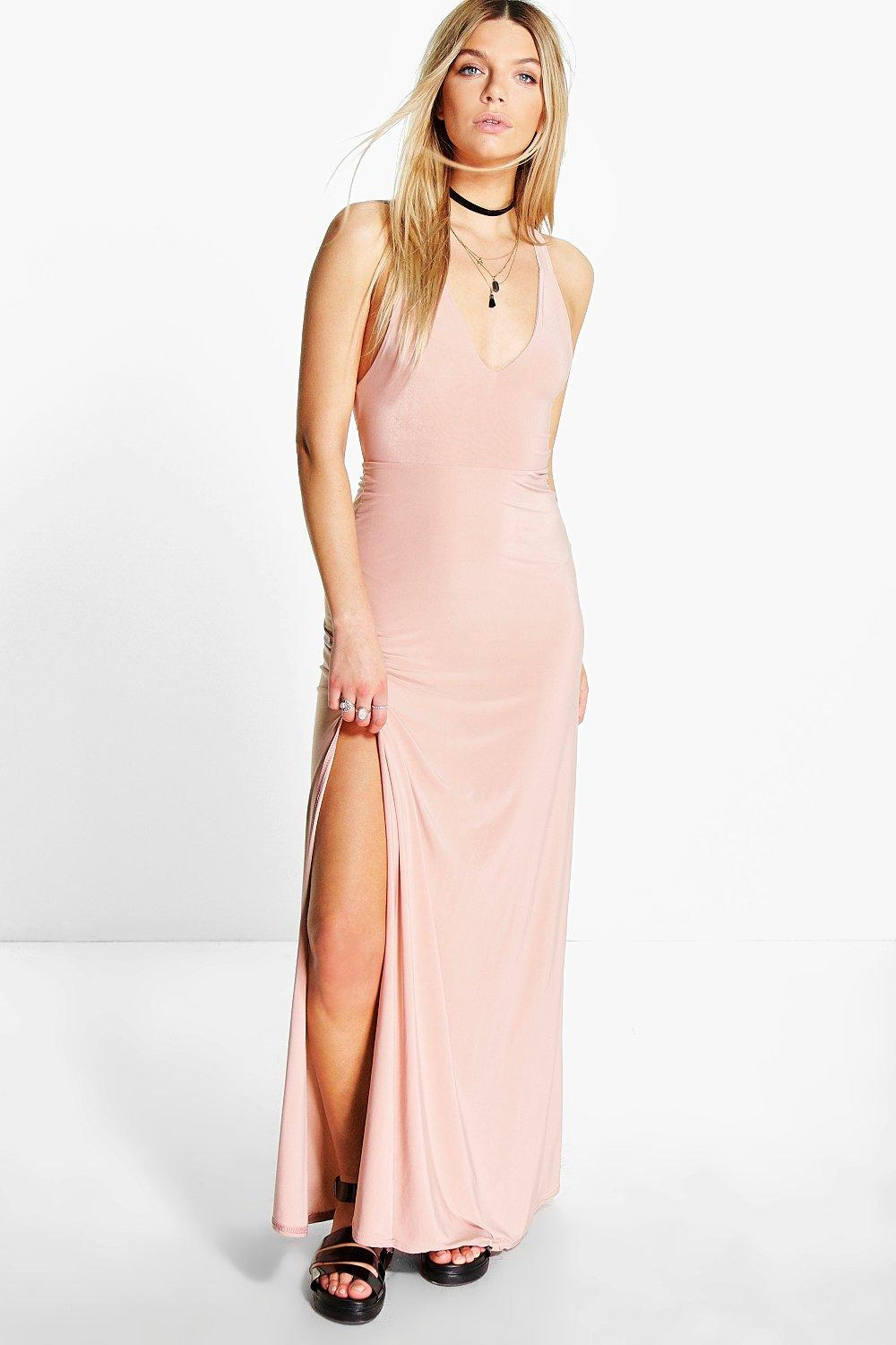 Sasha Racer Back Strappy Maxi Dress