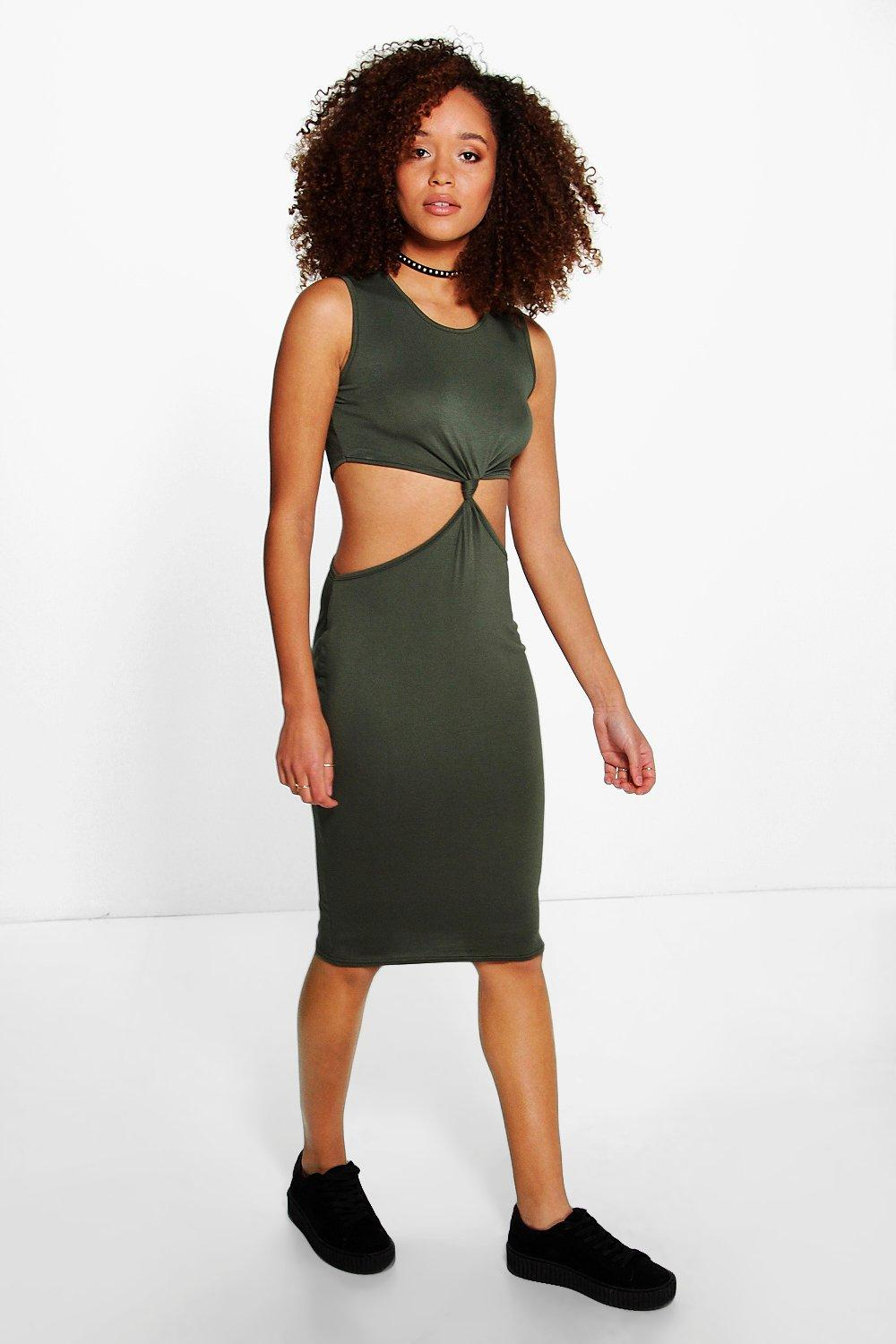 Kaela Knot Front Midi Dress