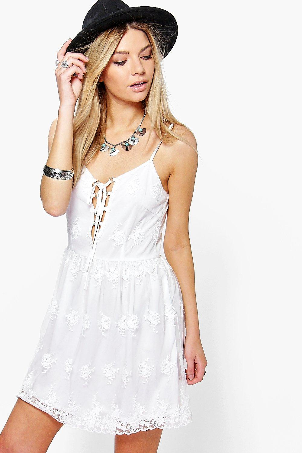 Boutique Charlotte Lace Skater Dress