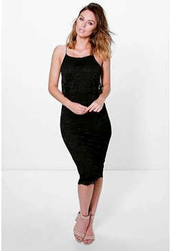 Denise Corded Lace Double Layer Dress