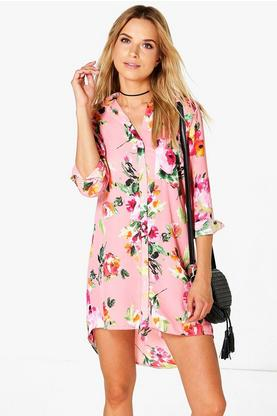Violeta Floral Shirt Dress