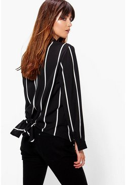 Kerry Tie Back Striped Shirt