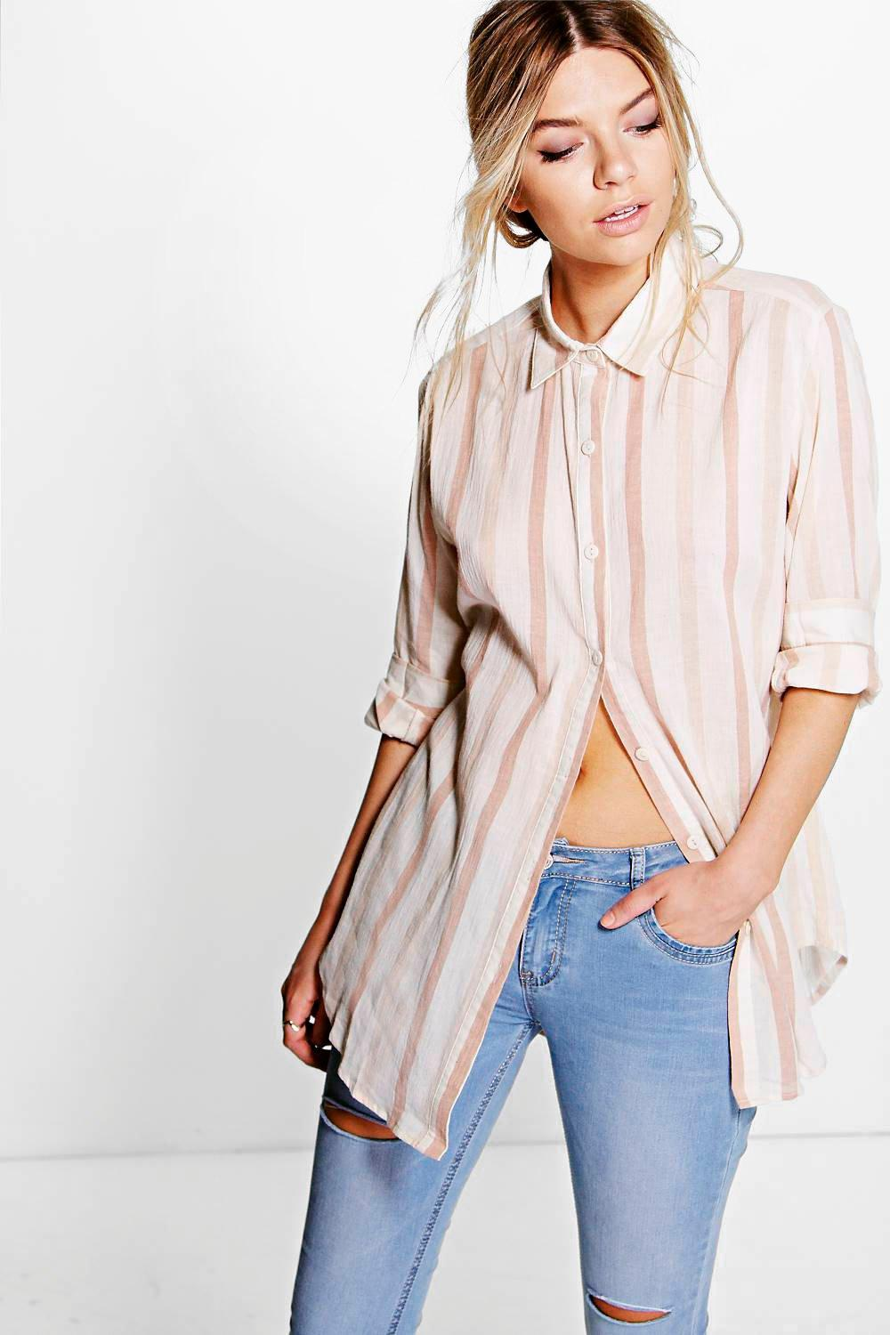 Molly Washed Cotton Striped Shirt
