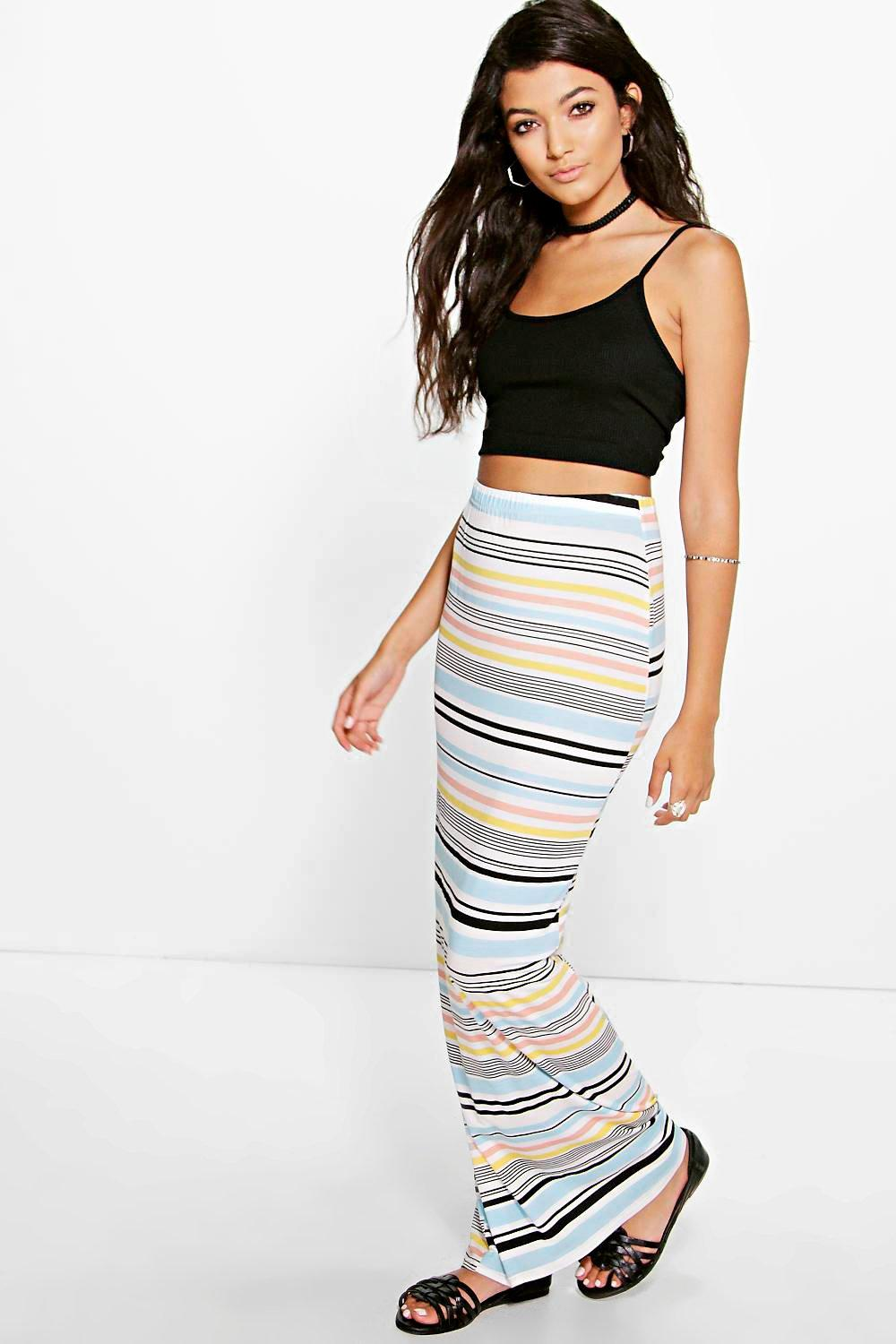 Annera Multi Stripe Maxi Skirt