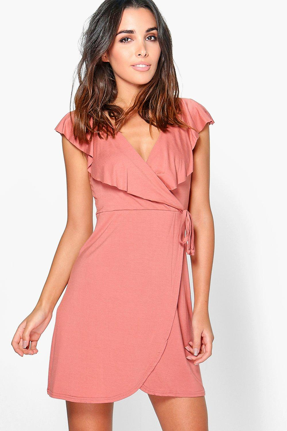 Ethel Frill Wrap Skater Dress