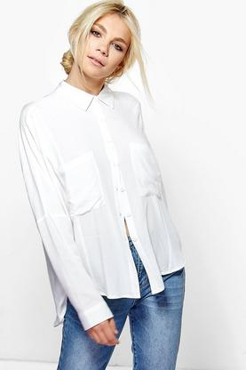Faith Pocket Detail Oversized Shirt