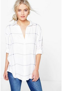 Molly Large Grid Oversized Shirt