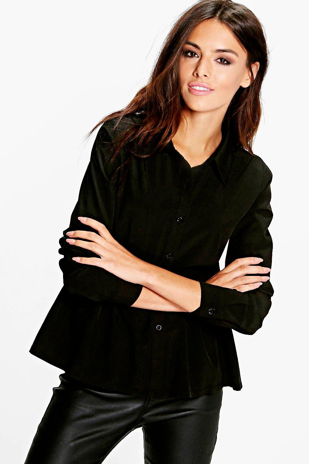 Peplum Shirt black